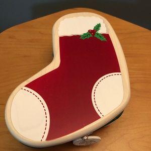 Longaberger Small Christmas Stocking Basket Set